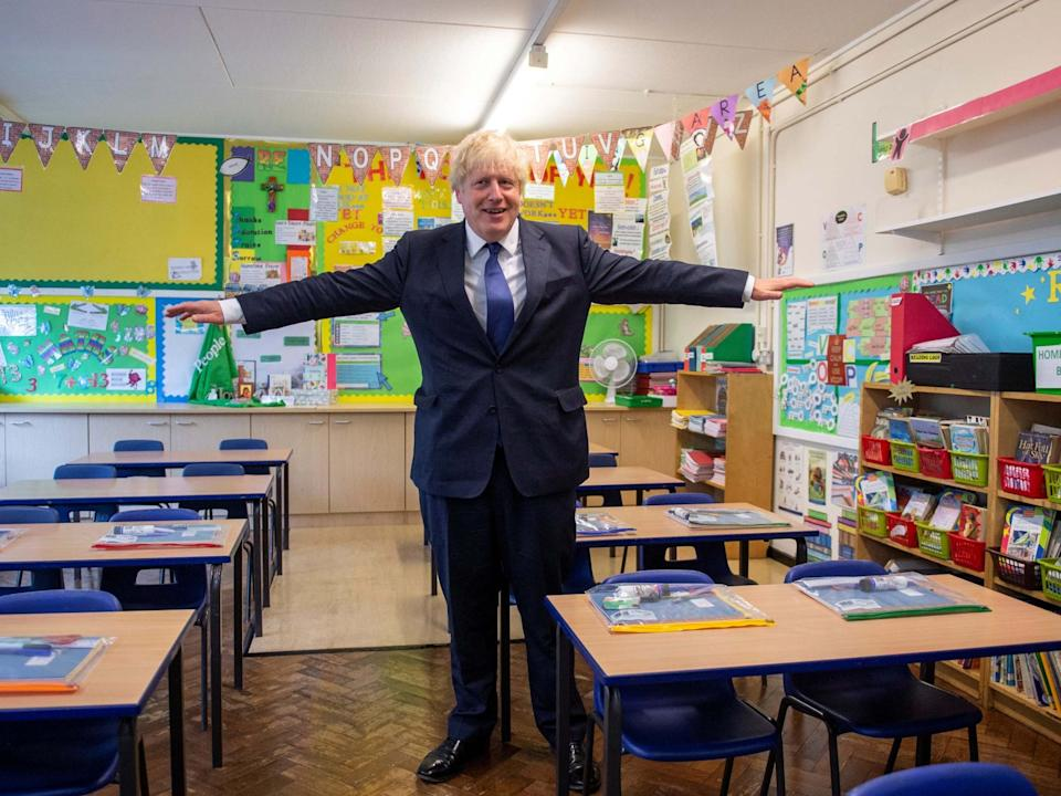 Boris Johnson visits St Joseph's Catholic School in Upminster, 10 August 2020: REUTERS