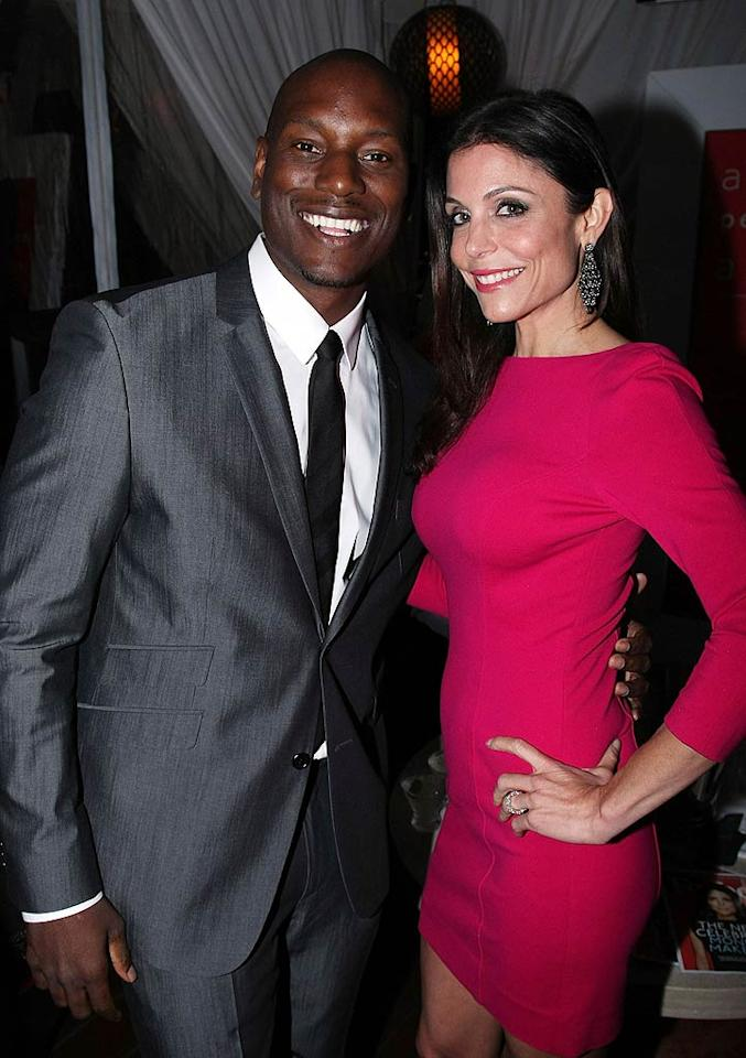 """Musician and actor Tyrese Gibson -- who's put out a series of digital comic books -- and reality star Bethenny Frankel took time out to pose for the camera. Bethenny has had runaway success with her line of Skinnygirl cocktails and diet books. Arnold Turner/<a href=""""http://www.wireimage.com"""" target=""""new"""">WireImage.com</a> - June 8, 2011"""