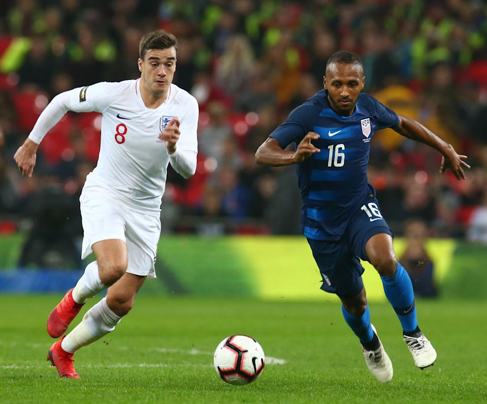 Julian Green's most recent appearance for the USMNT came against England in 2018. (Getty Images)