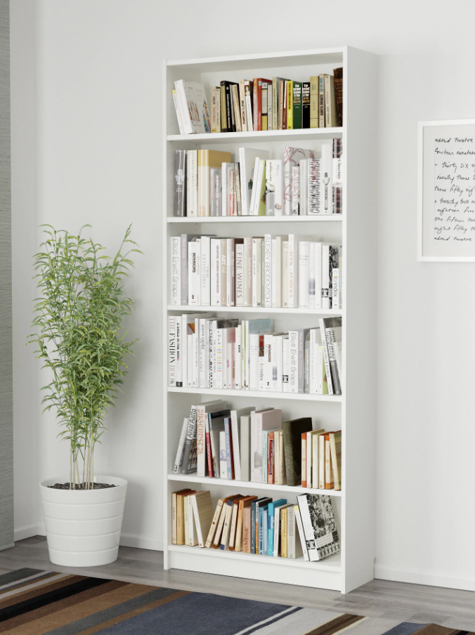 IKEA Billy bookcase filled with books