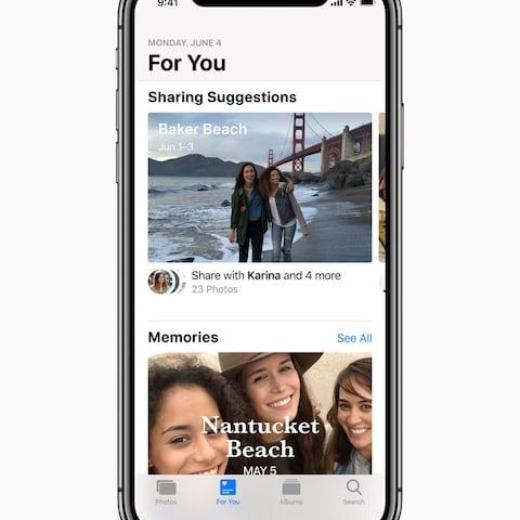 iOS 12 will suggest that users share their photos.