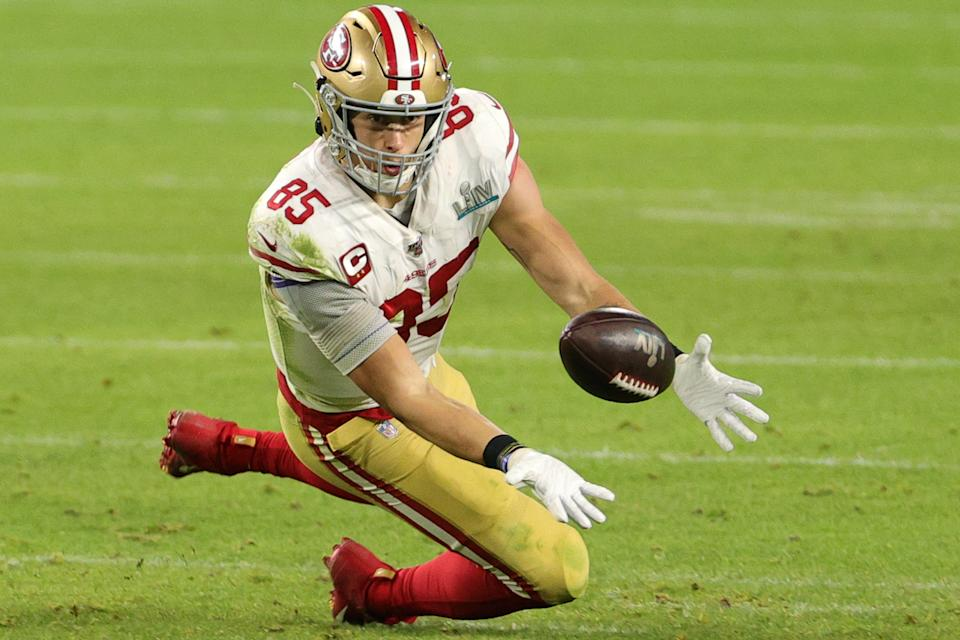 George Kittle #85 of the San Francisco 49ers