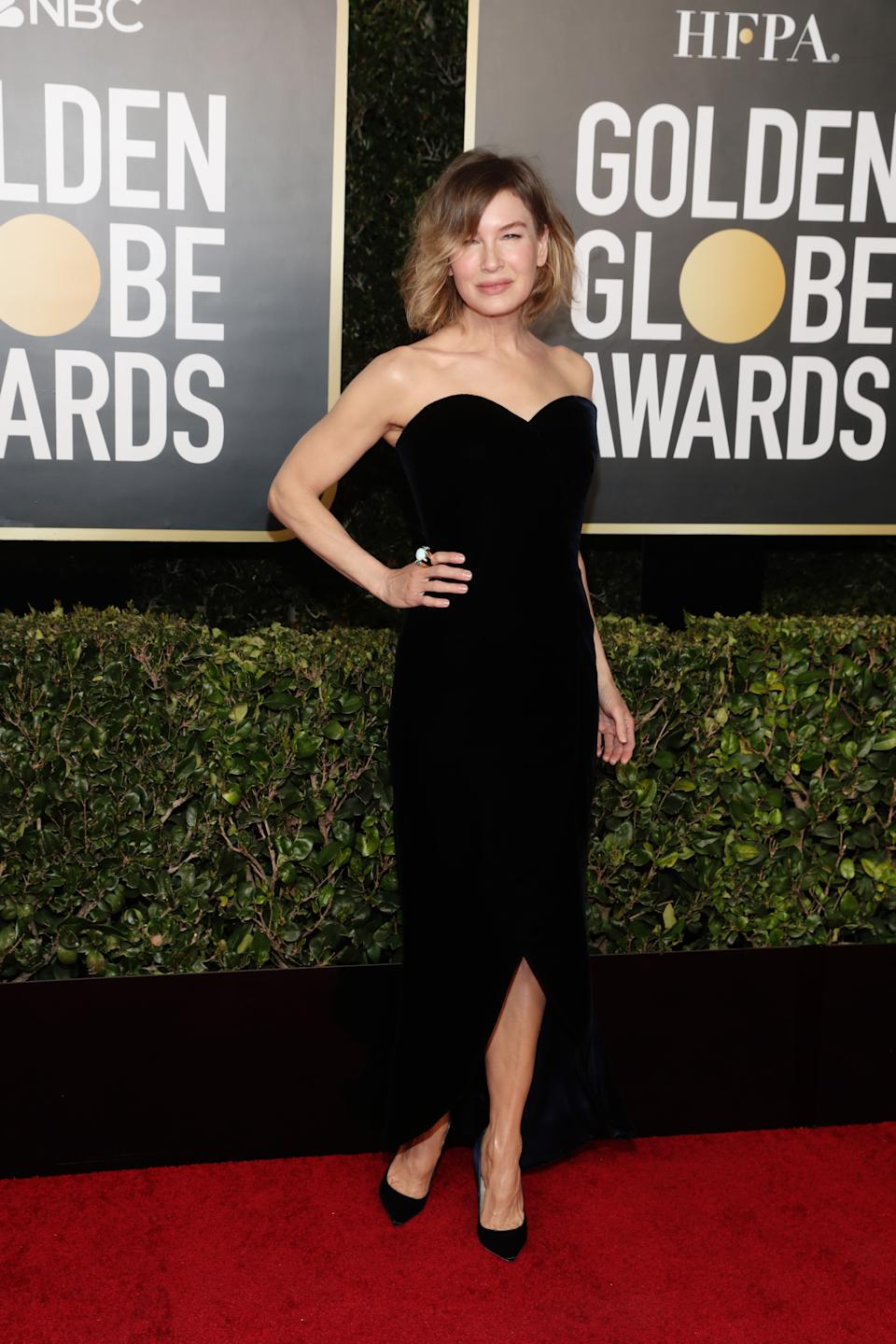 Renée Zellweger attends the 78th Annual Golden Globe Awards held at The Beverly Hilton and broadcast on February 28, 2021 in Beverly Hills, California.