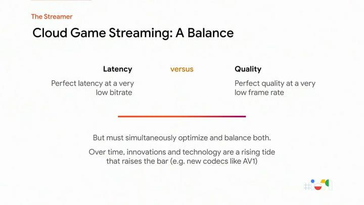 Google Stadia latency video quality research i/o 2019