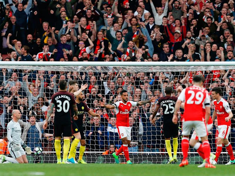 Walcott equalised for Arsenal (Getty)