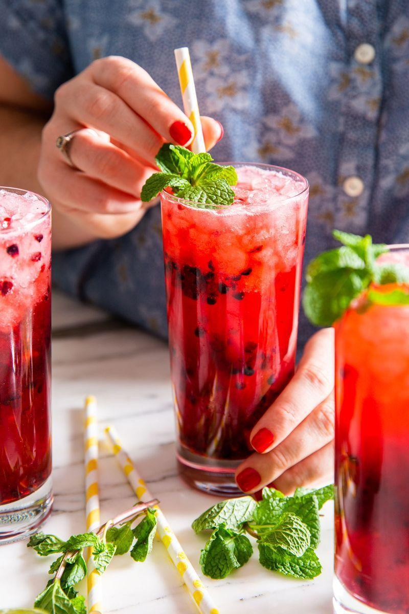 "<p><a href=""https://www.delish.com/uk/cocktails-drinks/a30924200/mojito/"" rel=""nofollow noopener"" target=""_blank"" data-ylk=""slk:Classic mojitos"" class=""link rapid-noclick-resp"">Classic mojitos</a> are always refreshing with fresh mint and fruit. This non-alcoholic version is still every bit as refreshing with an easy mint simple syrup and fresh blackberries.</p><p>Get the <a href=""https://www.delish.com/uk/cocktails-drinks/a33333249/blackberry-virgin-mojito-recipe/"" rel=""nofollow noopener"" target=""_blank"" data-ylk=""slk:Blackberry Virgin Mojito"" class=""link rapid-noclick-resp"">Blackberry Virgin Mojito</a> recipe.</p>"
