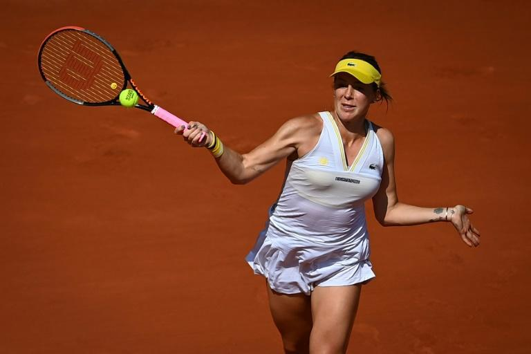 Anastasia Pavlyuchenkova won her first Grand Slam quarter-final after six previous losses at the same stage