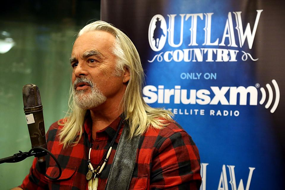 Hal Ketchum wears a black and red plaid shirt while performing a special live show at the SiriusXM Studios on November 12, 2014 in Austin, Texas.