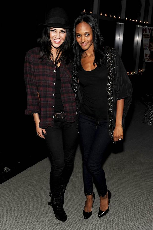 """Meester's """"Gossip Girl"""" co-star Jessica Szohr turned up for the bash minus her Green Bay Packers quarterback boyfriend Aaron Rodgers -- who was probably practicing hard for the Super Bowl on Sunday! Instead, she brought along fellow """"Gossip"""" starlet Nicole Fiscella. Dimitrios Kambouris/<a href=""""http://www.wireimage.com"""" target=""""new"""">WireImage.com</a> - February 1, 2011"""