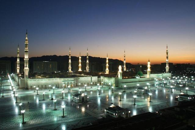 <b>JEDDAH, SAUDI ARABIA:</b> One of the 1,300 mosques in Jeddah, the second largest city in Saudi Arabia and one of the principal gateways to the Holy City of Mecca.