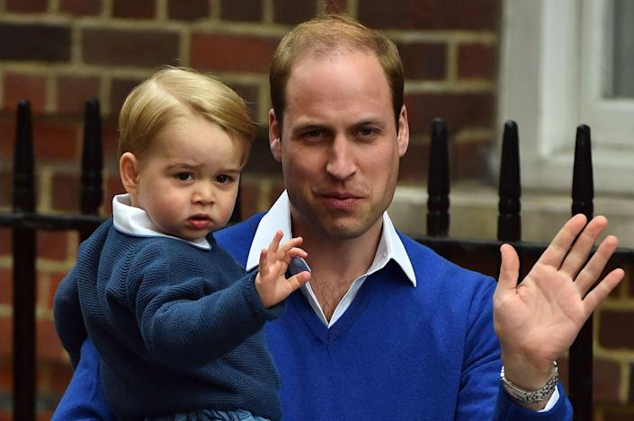 <p>Learning to wave, just like his dad, Prince William. </p>