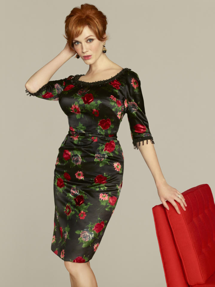 "Christina Hendricks stars as Joan Harris in ""<a target=""_blank"" href=""http://tv.yahoo.com/mad-men/show/39828"">Mad Men</a>."""