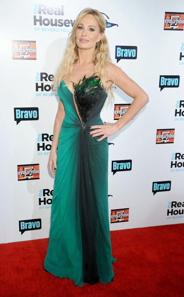 """Taylor Armstrong arrives at """"The Real Housewives Of Beverly Hills"""" Season 3 premiere party at the Hollywood Roosevelt Hotel on October 21, 2012 in Hollywood, California."""