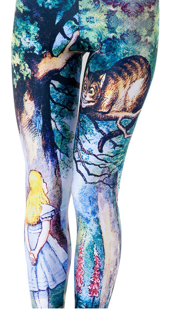 """<div class=""""caption-credit"""">Photo by: blackmilkclothing.com</div><div class=""""caption-title"""">Alice in Wonderland Leggings, $75</div>One pill makes you smaller, and one pill makes you wear these """"Through the Looking Glass"""" tights. However, don't expect them to make your legs 10 feet tall. <br>"""