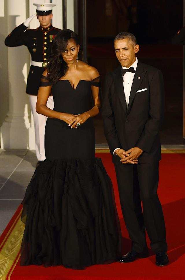 Wearing Vera Wang. <em>[Photo: Getty]</em>