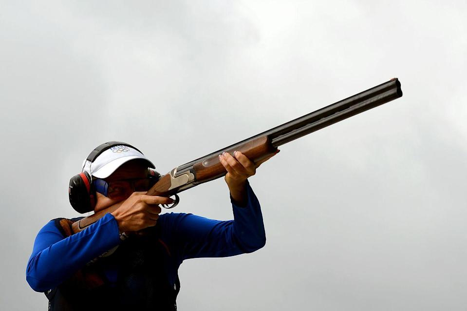 """<p>Per the USA shooting rifle rules, a rifle <a href=""""https://www.usashooting.org/7-events/usasrules"""" rel=""""nofollow noopener"""" target=""""_blank"""" data-ylk=""""slk:can't leave the firing lane"""" class=""""link rapid-noclick-resp"""">can't leave the firing lane</a> during the event, unless it has been approved by the referees.</p>"""