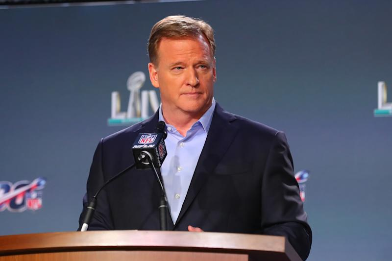 NFL commissioner Roger Goodell made a statement on George Floyd's death and the ensuing protests. (Photo by Rich Graessle/PPI/Icon Sportswire via Getty Images)