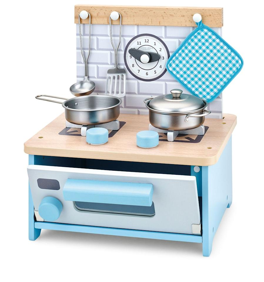 <p>Mini budding chefs will love being able to imitate making meals with this cute kitchen set.  </p><p>We earn a commission for products purchased through some links in this article.</p>