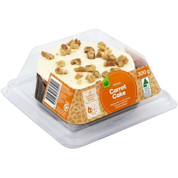 No matter what way you look at it, this dessert is far more cake than carrot. Photo: Woolworths