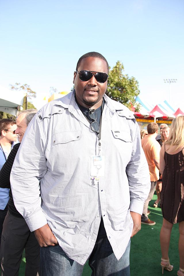"""<a href=""""http://movies.yahoo.com/movie/contributor/1810098051"""">Quinton Aaron</a> at the Los Angeles premiere of <a href=""""http://movies.yahoo.com/movie/1809266566/info"""">Toy Story 3</a> - 06/13/2010"""