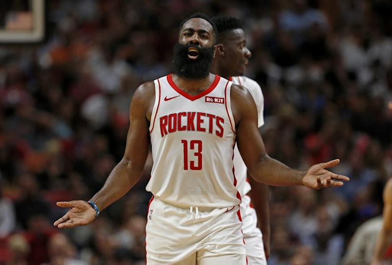 Rockets considering protest over James Harden dunk not counting