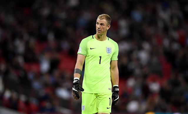 <p>Soccer Football – 2018 World Cup Qualifications – Europe – England vs Slovakia – London, Britain – September 4, 2017 England's Joe Hart REUTERS/Dylan Martinez </p>