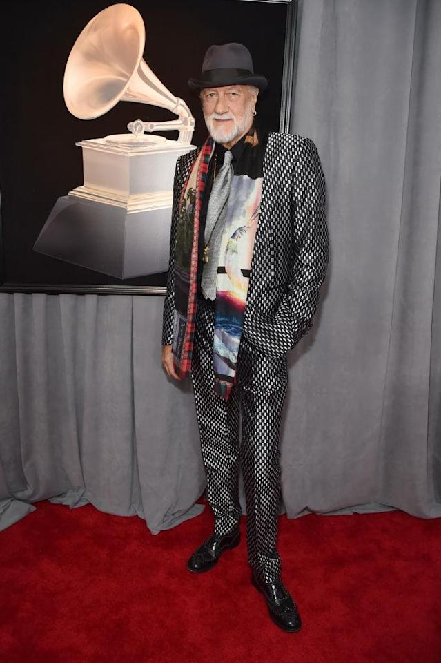 <p>Mick Fleetwood attends the 60th Annual Grammy Awards at Madison Square Garden in New York on Jan. 28, 2018. (Photo: John Shearer/Getty Images) </p>