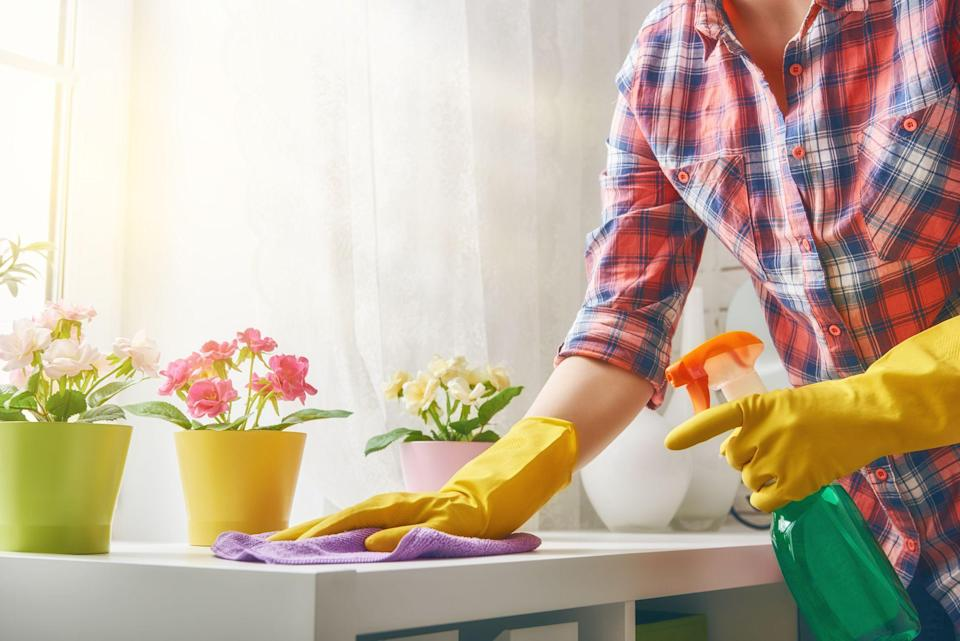 """<p>We get it: Not everyone is a devout follower of Marie Kondo. But even if decluttering sparks zero joy for you, it could do a great deal for your mental wellbeing. """"Decluttering your space can be a key ingredient in decluttering your mind, says Jason Kurtz, a psychoanalyst and author of <a href=""""https://www.amazon.com/Follow-Joy-Jason-Scott-Kurtz-ebook/dp/B00F2KZ7OC/"""" rel=""""nofollow noopener"""" target=""""_blank"""" data-ylk=""""slk:Follow the Joy"""" class=""""link rapid-noclick-resp""""><em>Follow the Joy</em></a>. """"Creating an environment where things are in their place and easy to find when we want or need them can help us feel more safe and relaxed.""""</p><p>And decluttering doesn't have to take a ton of time or effort, says Laurie Jennings, deputy editor of <em>Good Housekeeping </em>and author of <em><a href=""""https://www.amazon.com/Good-Housekeeping-Simple-Organizing-Wisdom/dp/1618372785"""" rel=""""nofollow noopener"""" target=""""_blank"""" data-ylk=""""slk:Simple Organizing Wisdom"""" class=""""link rapid-noclick-resp"""">Simple Organizing Wisdom</a></em>. """"Prioritize the areas most in need of organizing help,"""" she says. Here, cleaning experts explain how to do that one room at a time, starting in the kitchen.</p>"""