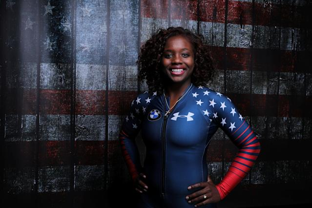 Bobsledder Kehri Jones poses for a portrait at the U.S. Olympic media summit. (Reuters)