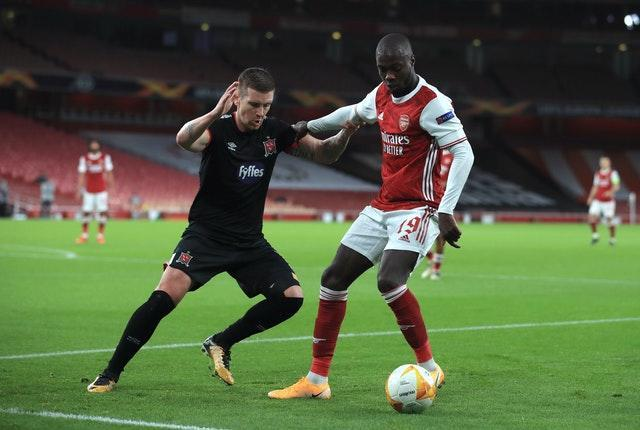 Nicolas Pepe scored Arsenal's third goal