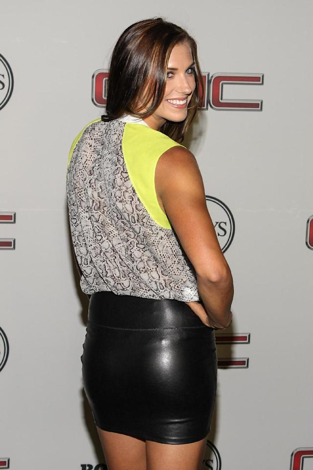 Soccer player Alex Morgan at the Body at ESPYS Party sponsored by Hennessy V.S on July 16, 2013 at Lure in Los Angeles, CA. (Photo by Paul A. Hebert/Invision for Hennessy/AP Images)