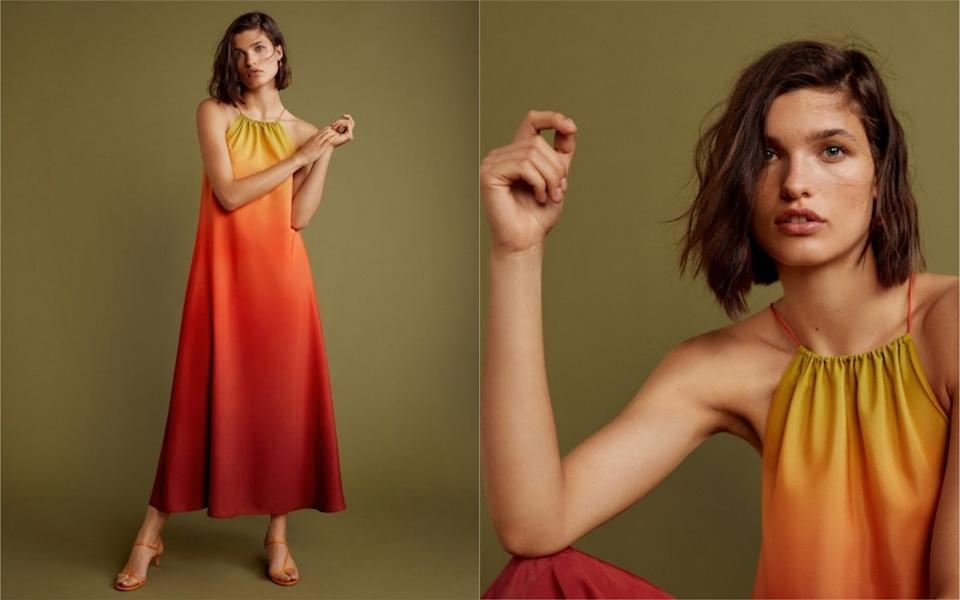 The now-famous Mango dress is back just time for summer wedding season [Photo: Mango]