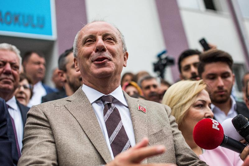 Republican Peoples Party (CHP) presidential candidate Muharrem Ince had energised the opposition with mass rallies (AFP Photo/Uygar ONDER SIMSEK)