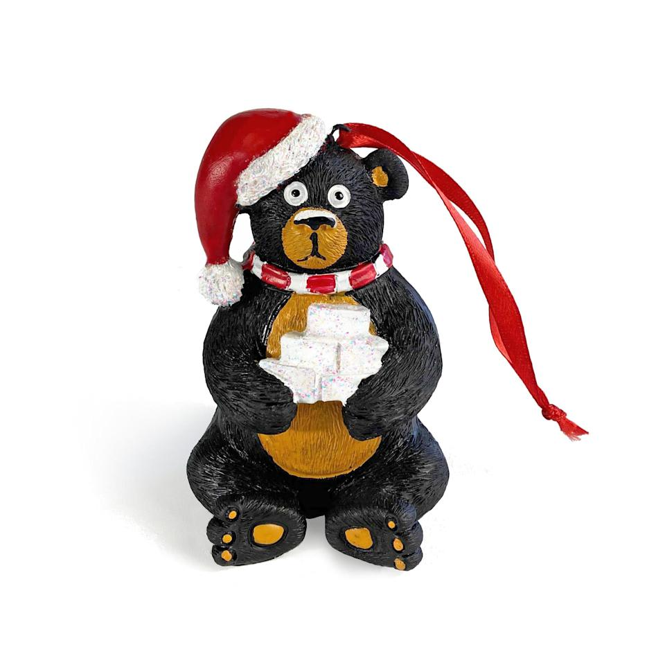 """Back In 1985, a black bear found and ate $15 million worth of cocaine in Kentucky. Now, this so-called cocaine bear can be remembered every holiday season.<a href=""""https://kyforky.com/collections/new-gear/products/cocaine-bear-christmas-ornament"""" target=""""_blank"""" rel=""""noopener noreferrer"""">This ornament,</a>true to its name, shows a bear looking very, very high. Merry Christmas?"""
