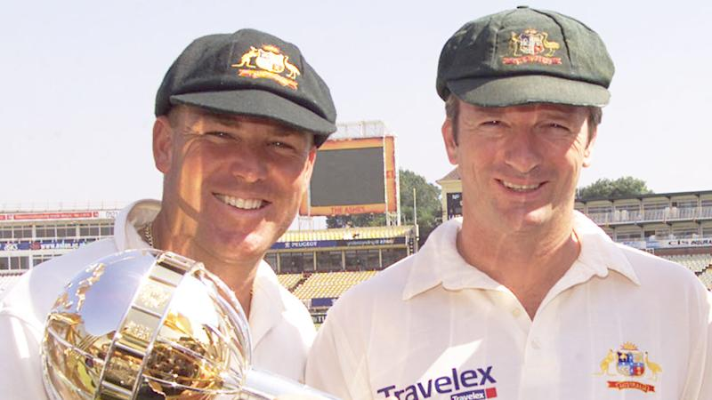 Former Test teammates Shane Warne and Steve Waugh pictured together here during their playing days.