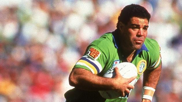 Meninga during his playing days with the Raiders. Pic: Getty