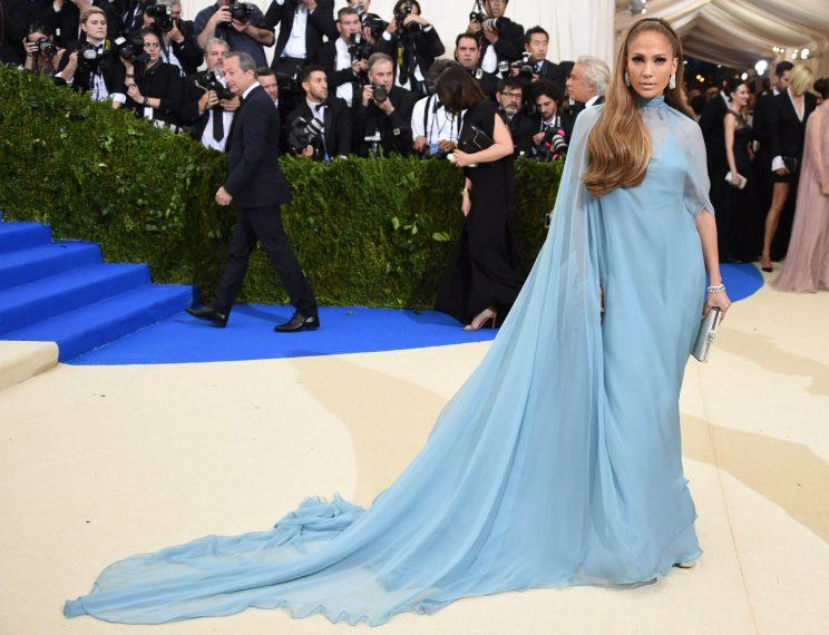 4cd6d170 Jennifer Lopez Was A Bit Off Theme For The Met Gala But Looked