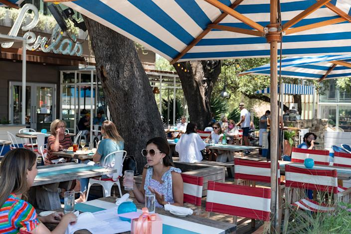 A restaurant in Austin, Tex., on Wednesday, June 17, 2020. (Ilana Panich-Linsman/The New York Times).