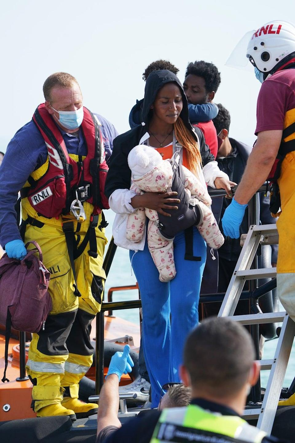 Several young children were among those rescued on Monday (Gareth Fuller/PA) (PA Wire)
