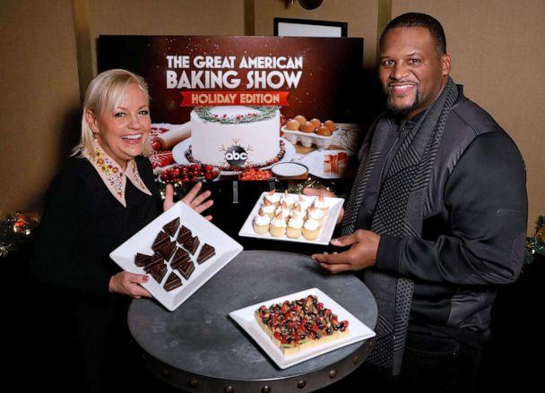 PHOTO: Pastry chef Sherry Yard and Anthony 'Spice' Adams from 'The Great American Baking Show: Holiday Edition.' (ABC/Heidi Gutman)