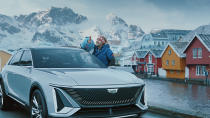 This photo provided by GM shows a scene from GM's 2021 Super Bowl NFL football spot. (GM via AP)