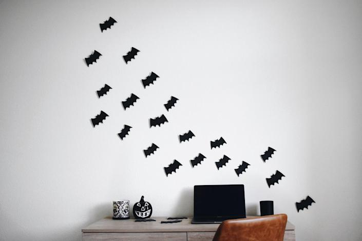 """Add a little spooky to every room in the house with these felt bats, made of vegan, recycled fabric. $16, Etsy. <a href=""""https://www.etsy.com/listing/855903072/felt-bat-halloween-decoration-felt-home"""" rel=""""nofollow noopener"""" target=""""_blank"""" data-ylk=""""slk:Get it now!"""" class=""""link rapid-noclick-resp"""">Get it now!</a>"""