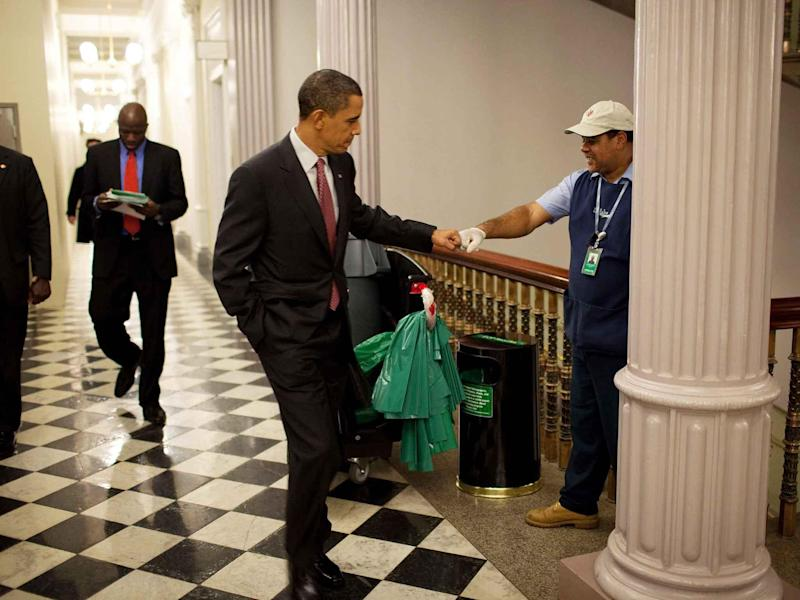 Mr Obama promised he would keep fighting for the issues he cared about as a citizen: Peter Souza