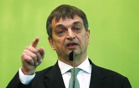 Jerome Champagne speaks during a news conference in London