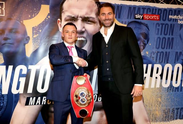 Josh Warrington and Eddie Hearn want to lure Gary Russell Jr. to the UK (Bradley Collyer/PA)