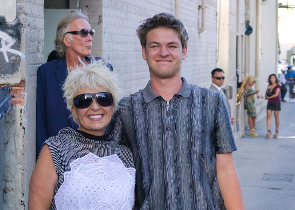 Roseanne Barr and her son Buck Thomas outside <i>Jimmy Kimmel Live</i> in L.A. on Aug. 31, 2015. (Photo: AaronP/Bauer-Griffin/GC Images)