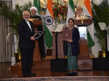 India and Iran exchanged nine MoU/agreements on Saturday. Twitter @MEAIndia