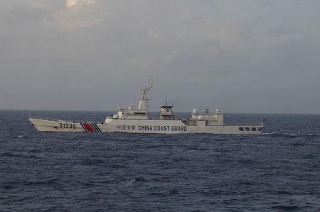 China Coast Guard vessel No. 31239 sails in the East China Sea near the disputed isles known as Senkaku isles in Japan and Diaoyu islands in China