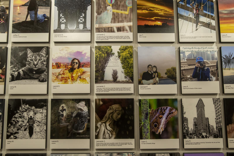 High school student Leonardo C. has three photos in the exhibit that led to a scholarship to Columbia University. (Photo: Gordon Donovan/Yahoo News)