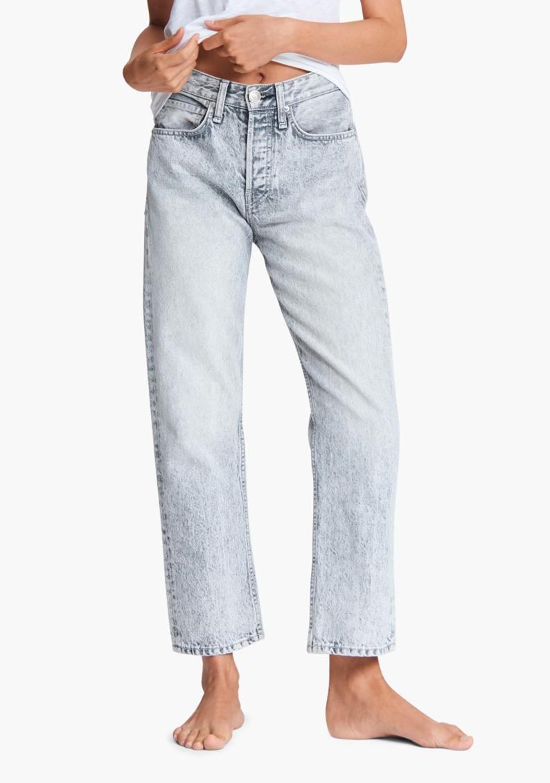 "Another acid-wash style to consider, these slim fit jeans are the ultimate match for combat boots and a vintage tee. $255, Olivela. <a href=""https://www.olivela.com/products/rag-bone-maya-high-rise-ankle-slim-jeans-547384"" rel=""nofollow noopener"" target=""_blank"" data-ylk=""slk:Get it now!"" class=""link rapid-noclick-resp"">Get it now!</a>"